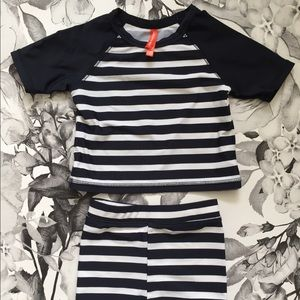 Other - Navy and White Stripped Baby Swimsuit